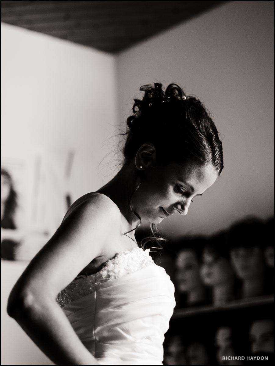 Portrait einer Braut in Graubünden