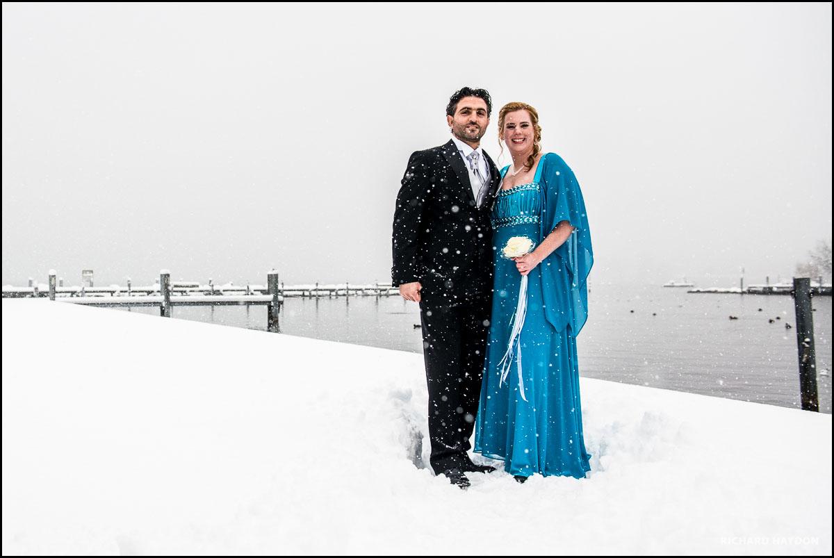 Portrait von einem Brautpaar in Pfäffikon