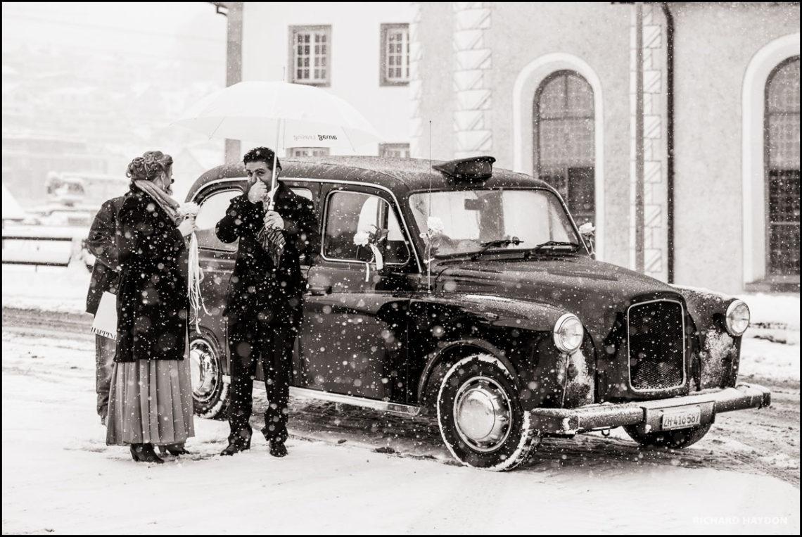Hochzeit im Schnee in Pfäffikon, SZ
