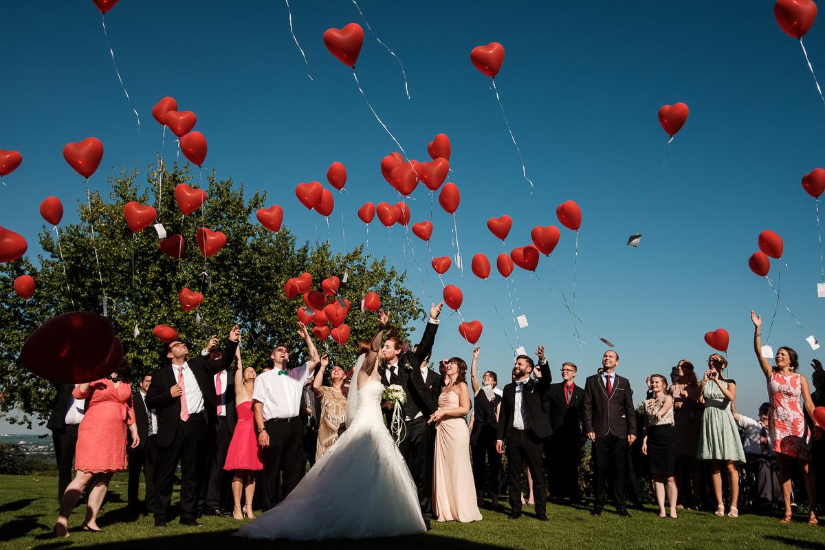 Hochzeit in Deutschland Luftballons