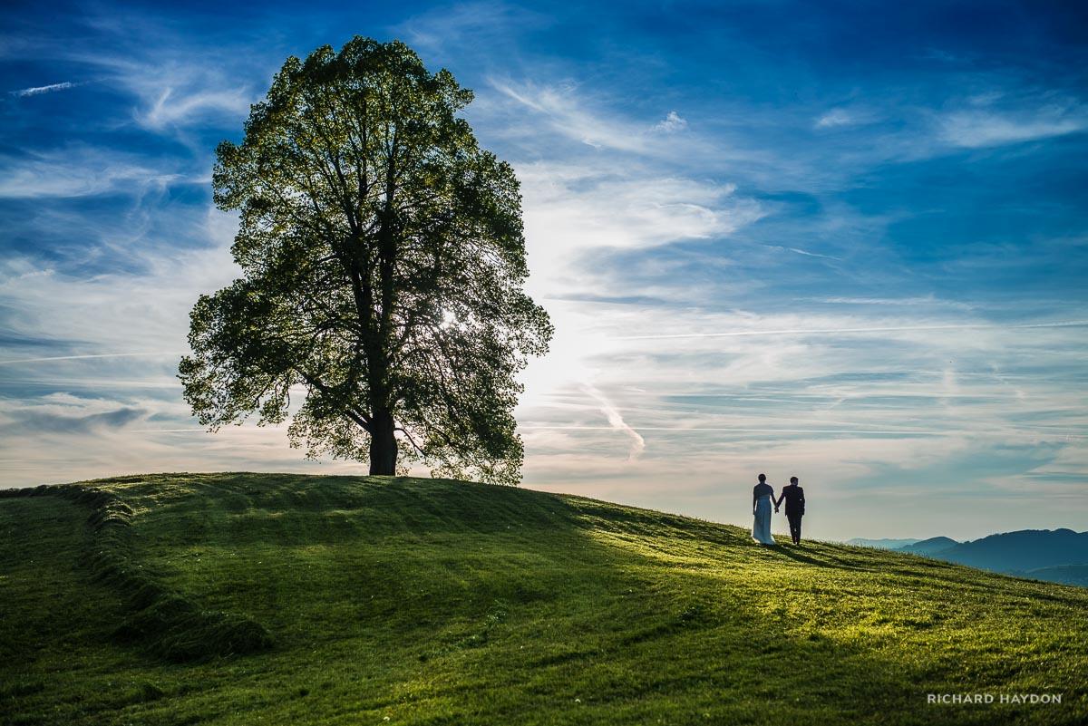 Brautpaar Hand in Hand auf Mistlibühl